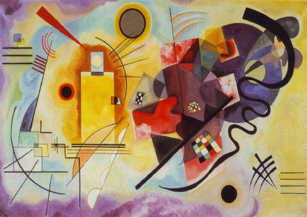 Kandinsky, Wassily: Red, Yellow, Blue (1925). Fine Art Print/Poster. Sizes: A4/A3/A2/A1 (001332)